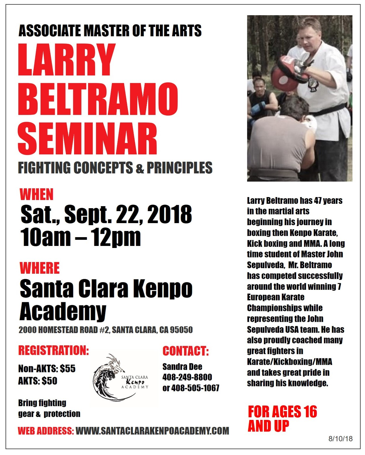 2018 09 22 Beltramo Fighting Concepts and Principles at SCKA v08102018